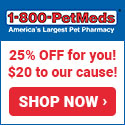 You get 25% OFF at 1-800-PetMeds, and Zani's gets a $20 Donation! Shop Now!